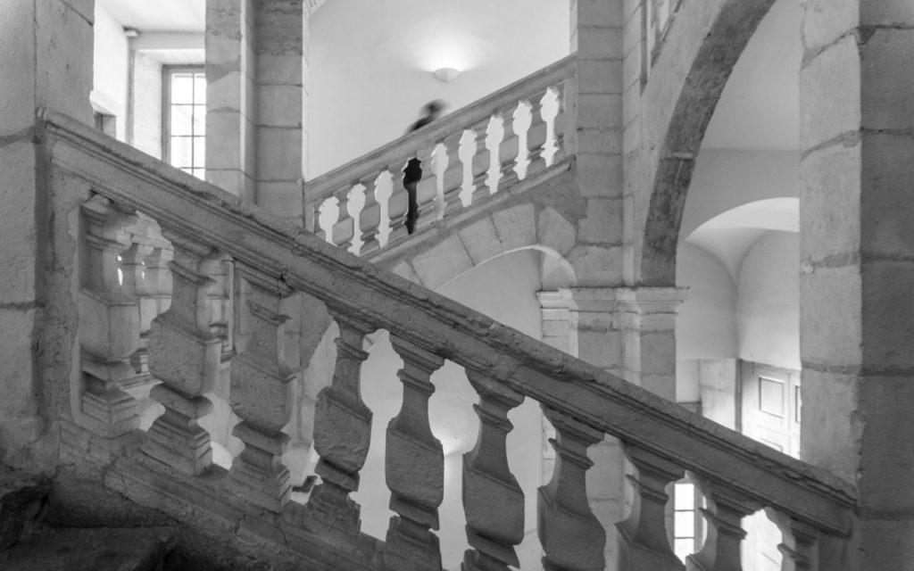 anatomía de una escalera
